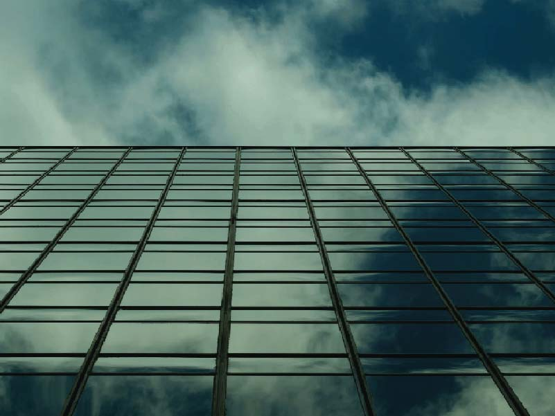 CATMEDIA Corporate Clients Look up to see building and sky