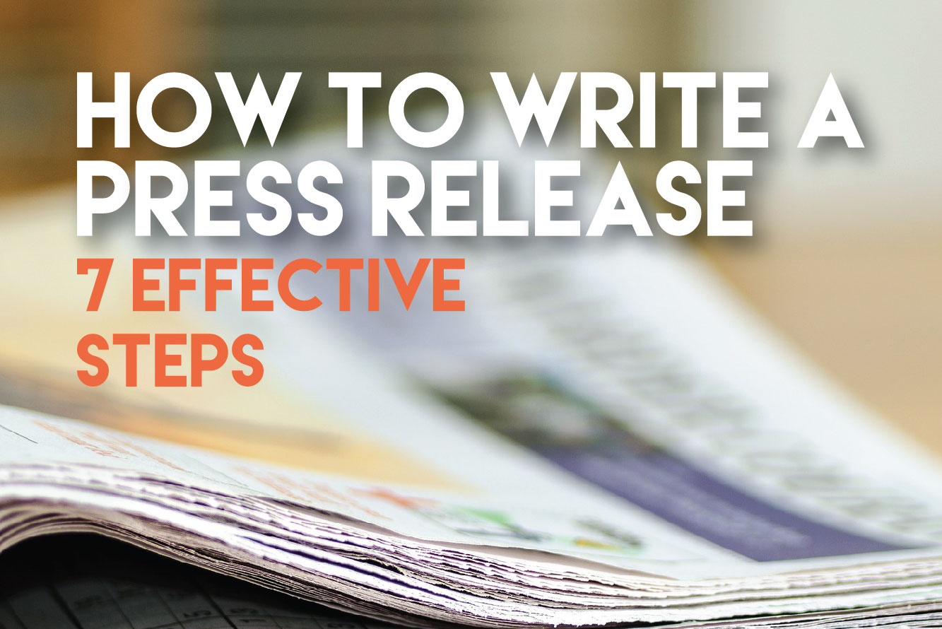 steps to write a press release